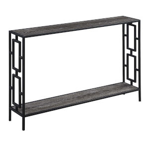 Town Square Weathered Gray and Black Console Table
