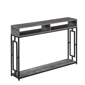 Town Square Deluxe Weathered Gray and Black Console Table