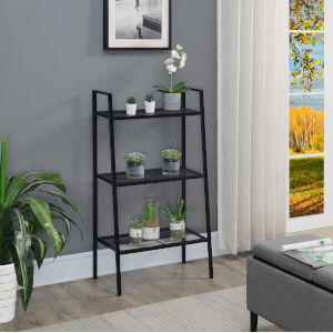 Design2Go Black Three-Tier Metal Plant Stand