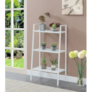 Design2Go White Three-Tier Metal Plant Stand