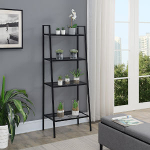 Design2Go Black Four-Tier Metal Plant Stand