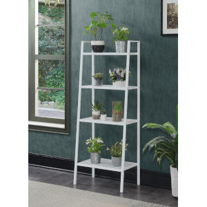 Design2Go White Four-Tier Metal Plant Stand