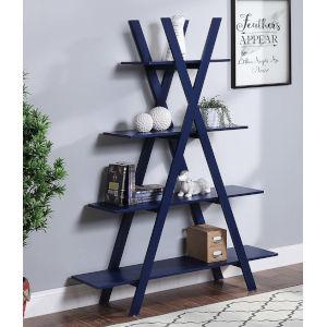 Oxford Cobalt Blue A-Shaped Frame Bookshelf