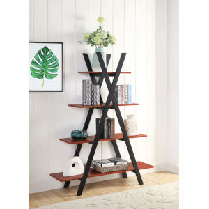 Oxford Cherry and Black A Shaped Bookshelf