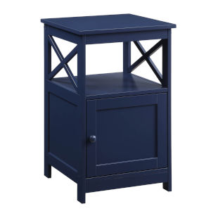 Oxford Cobalt Blue End Table with Cabinet