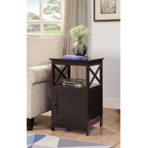 Oxford Espresso End Table with Cabinet