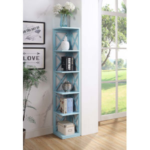 Oxford Sea Foam Five Tier Corner Book Case