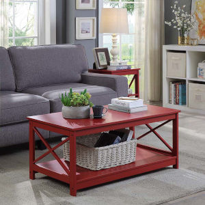 Oxford Cranberry Red 22-Inch Coffee Table