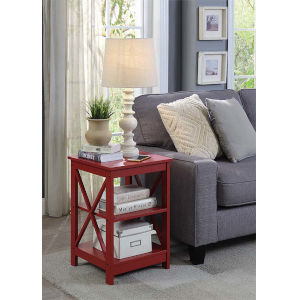 Oxford Cranberry Red 16-Inch End Table