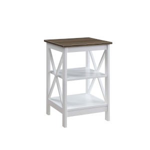 Oxford Driftwood White End Table