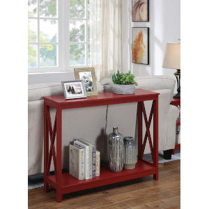 Oxford Cranberry Red 12-Inch Console Table