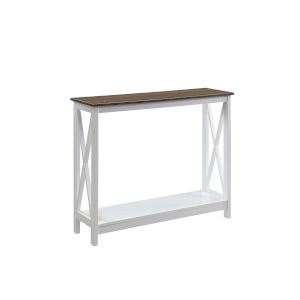 Oxford Driftwood White Console Table