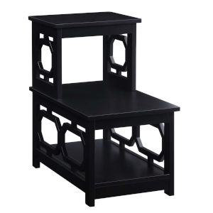 Omega Black Chairside End Table