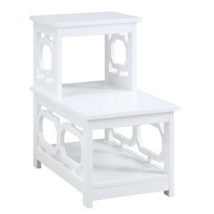 Omega White Chairside End Table