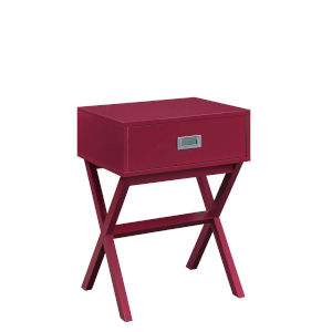 Designs 2 Go Cranberry Red MDF End Table