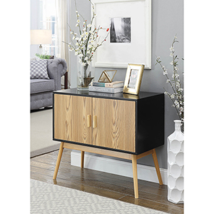 Oslo Black and Brown Storage Console