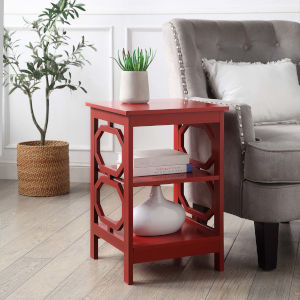 Omega Cranberry Red Accent End Table