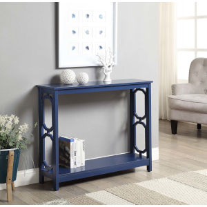 Omega Cobalt Blue Accent Console Table