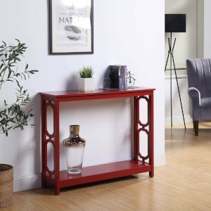 Omega Cranberry Red Accent Console Table