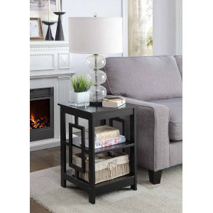 Town Square Black 16-Inch Square End Table