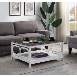 Omega Driftwood and White 36-Inch Coffee Table