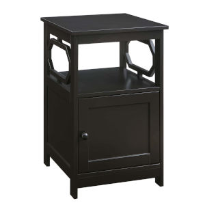Omega Espresso End Table with Cabinet