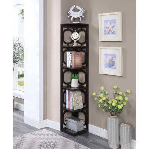 Omega Espresso Five Tier Corner Book Case