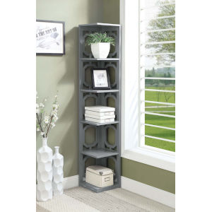 Omega Gray 5 Tier Bookcase