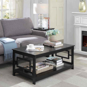 Town Square Black 22-Inch Square Coffee Table
