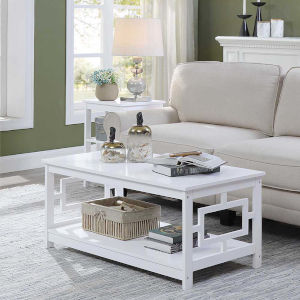 Town Square White 22-Inch Square Coffee Table