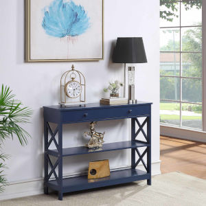 Oxford Cobalt Blue One-Drawer Console Table