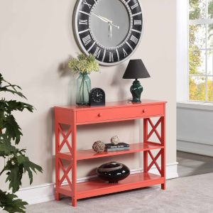 Oxford Coral One-Drawer Console Table