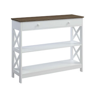 Oxford Driftwood White One-Drawer Console Table
