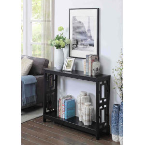 Town Square Black 12-Inch Console Table
