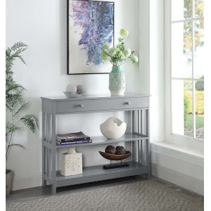 Mission Gray 12-Inch Console Table