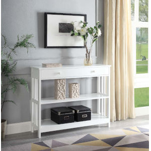 Mission White 12-Inch Console Table