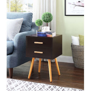 Oslo Espresso Two Drawer End Table