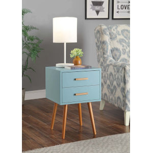 Oslo Sea Foam Two Drawer End Table