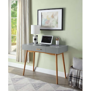 Oslo Gray Drawer Desk