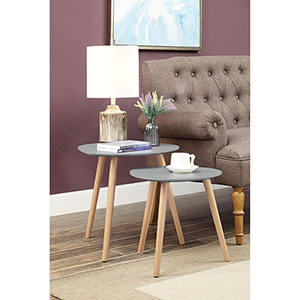 Oslo Gray Nesting End Tables