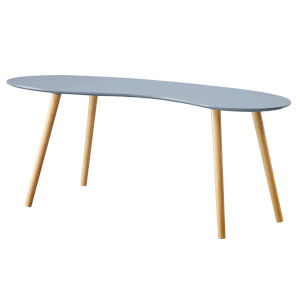 Oslo Gray Bean Shaped Coffee Table
