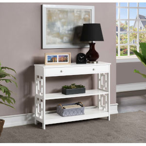 Town Square White Accent Console Table