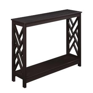 Titan Espresso Console Table with Shelf