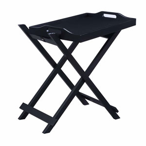 Designs2go Black Folding Tray Table