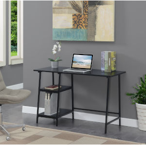 Design2Go Black Wood Metal Desk