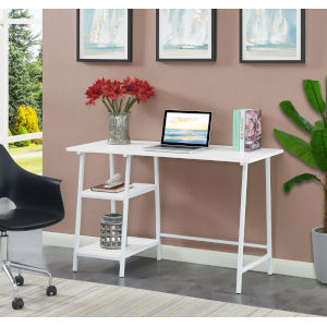 Design2Go White Wood Metal Desk