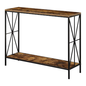 Tucson Barnwood and Black Starburst Console Table