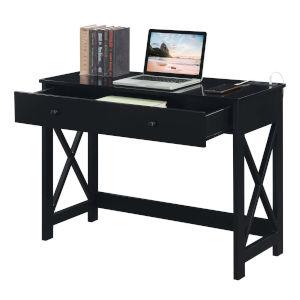 Oxford Black Desk with Charging Station