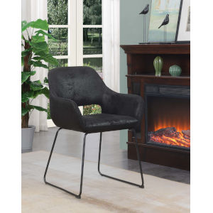 Samantha Antique Black Accent Chair