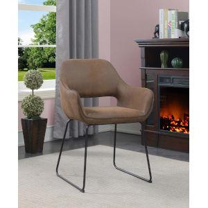 Samantha Antique Brown Black Accent Chair
